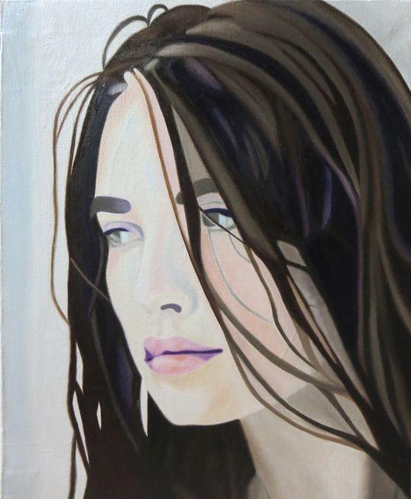Re-Created Girl Looking intoDistance - Robert S. Lee
