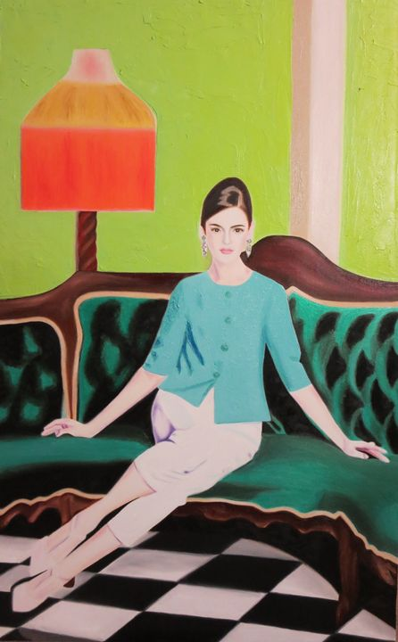 Re-Created Girl on Couch - Robert S. Lee