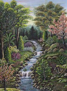 Life Paradise Painting - Marwa Naeem