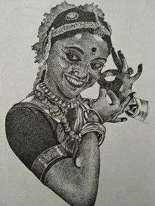 Bharatanatyam - Stippling