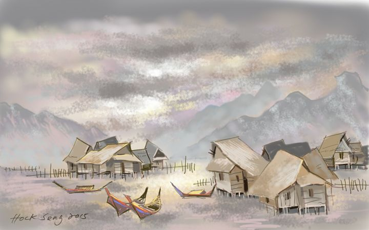 A Malay Village 2 - Keng's Gallery