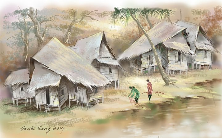 A Malay Village - Keng's Gallery