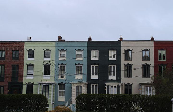Colorblocked buildings - Aubrey Carpenter