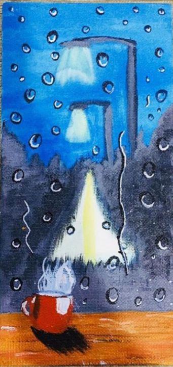 RAIN FROM A  WINDOW - THE ART TRUNK