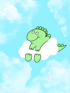 Dino on a cloud