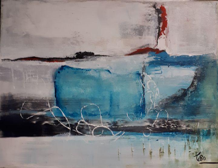 Iceberg,Iceberg - Tibo Artiste peintre