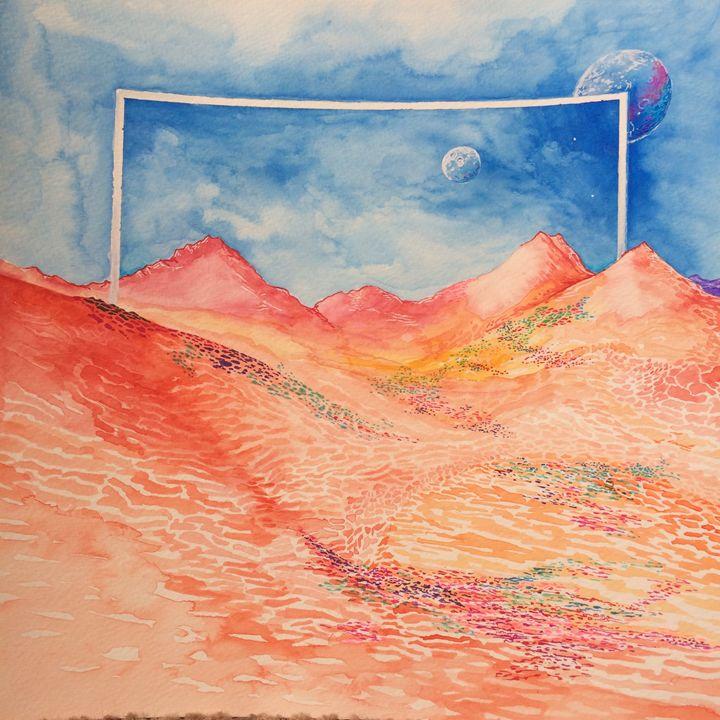 "Original Watercolor Artwork 12""x12"" - Abe Draws"