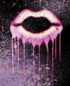 Pink Drip Lips