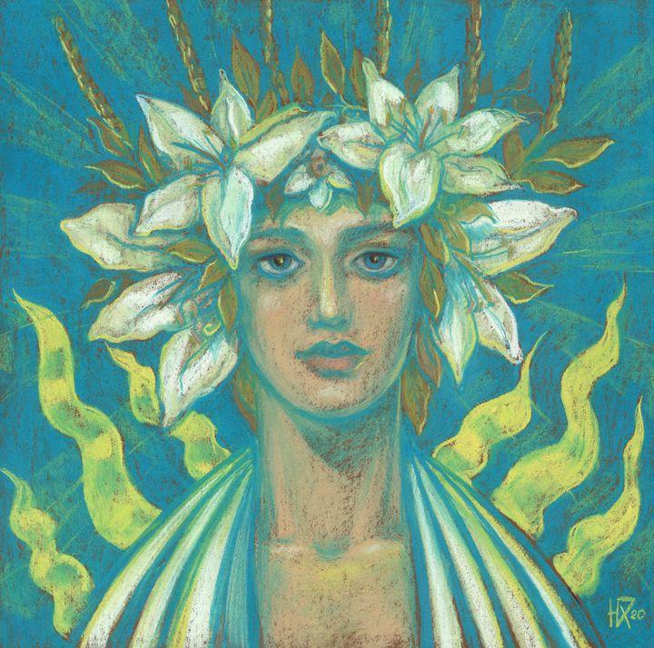 May Queen, Fantasy Portrait - Julia Khoroshikh / Clipso-Callipso
