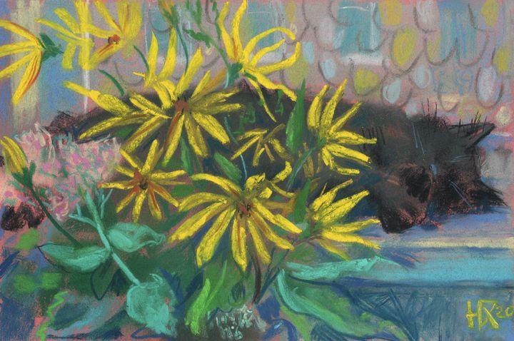 Topinambur Dreams, Black Cat Flowers - Julia Khoroshikh / Clipso-Callipso