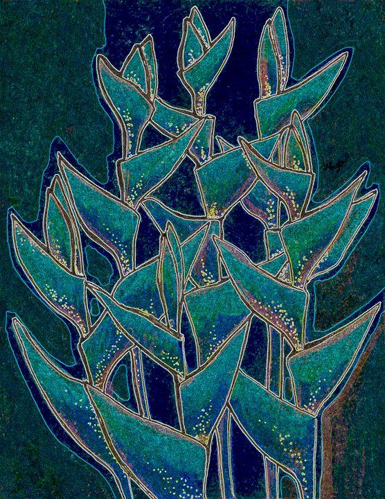 Heliconia Rostrata, twilight version - ClipsoCallipso