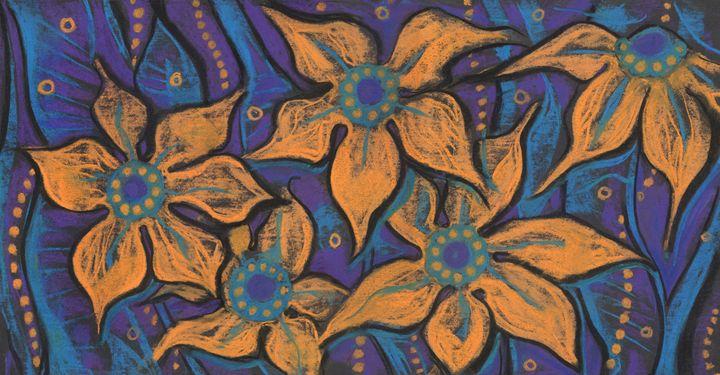 Golden flowers - Julia Khoroshikh / Clipso-Callipso