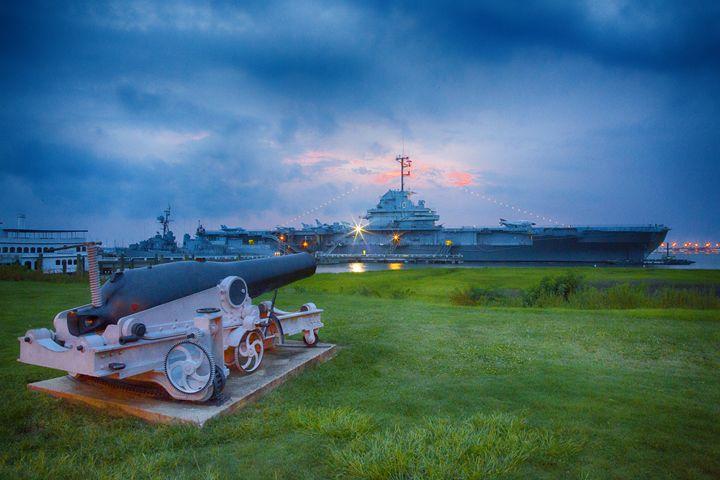 USS Yorktown at Sunset - Daniel S. Krieger Photography