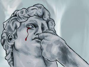 David crying