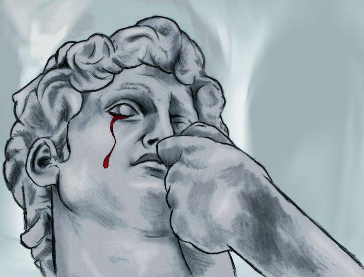 David crying - stars