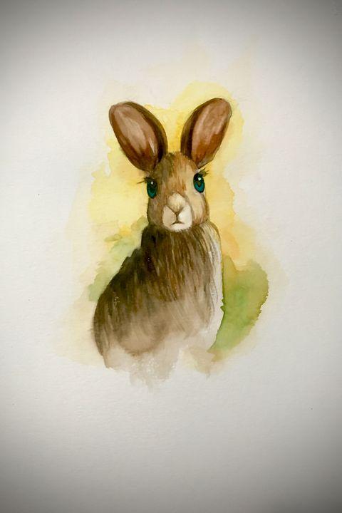 Watercolor - Bunny #1 - Outschool Demo Works
