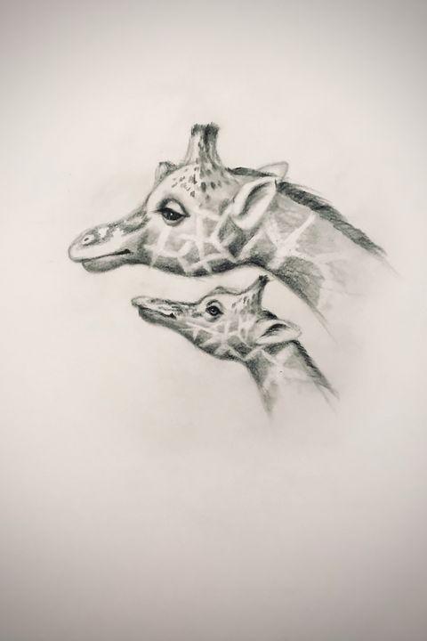 Sketching - Giraffe - Online Lesson Demo Works