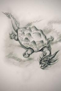 Sketching - Turtle Dragon
