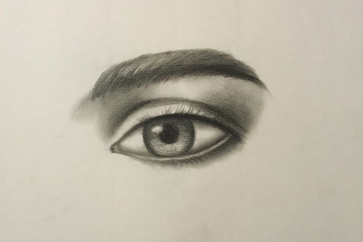 Sketching - Eye on the Right - Online Lesson Demo Works