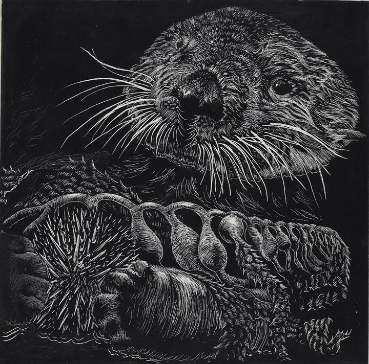 California Sea Otter and Sea Urchin - Greg McBride