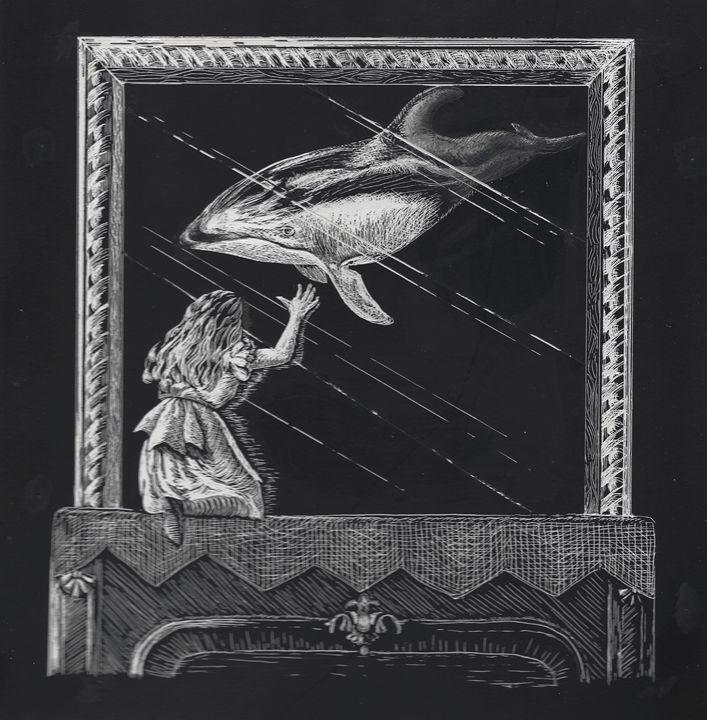 Alice in Wonderland visits a Dolphin - Greg McBride