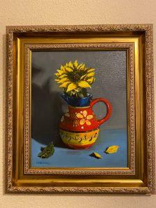 Spanish Sunflower - Paul Whitehead. Art works in oil