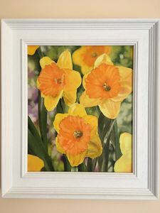 Daffodils in bloom - Paul Whitehead. Art works in oil