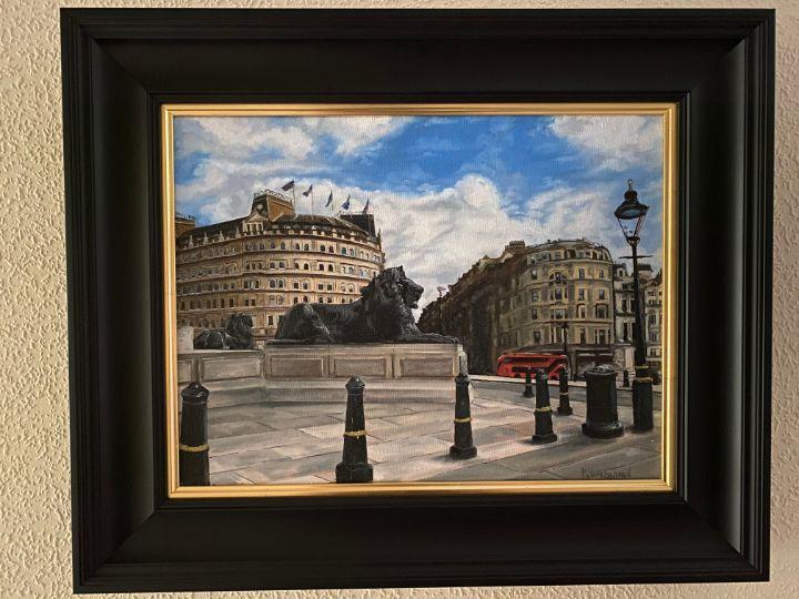 Early Morning In Trafalgar! - Paul Whitehead. Art works in oil