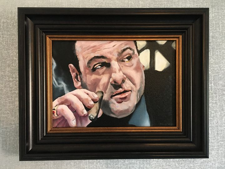 If looks could kill - Paul Whitehead. Art works in oil