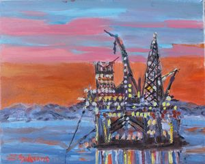 Offshore in a landscape