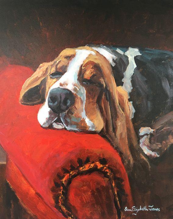 Let Sleeping Dogs Lie - Colorful & Charming Art of Susan Elizabeth Jones