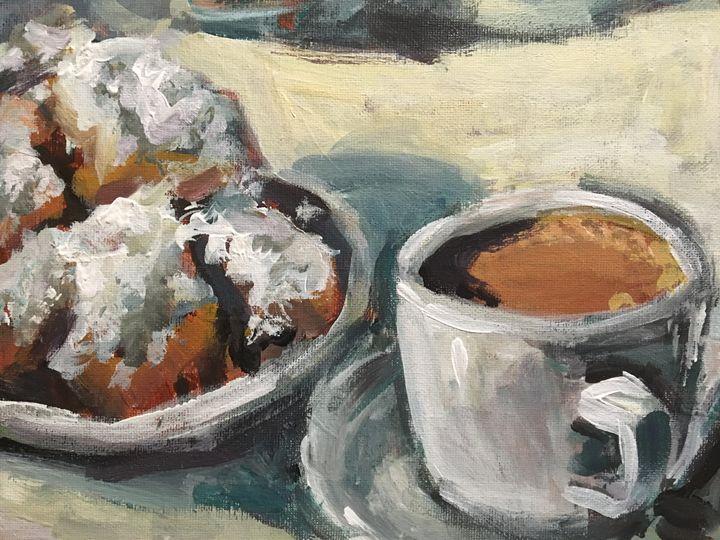Beignets and Cafe au Lait - Colorful & Charming Art of Susan Elizabeth Jones
