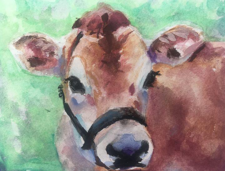 Jersey Cow - Colorful & Charming Art of Susan Elizabeth Jones