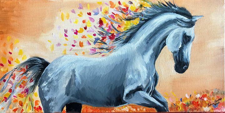 Vibrant Flight - Blue Horse Fine Art Co.