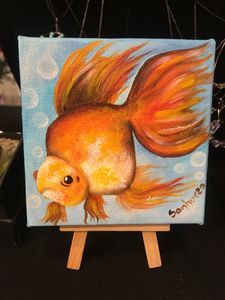 4x4 canvas with easel