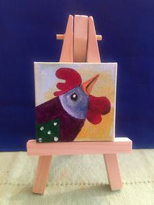 2x2 canvas with easel
