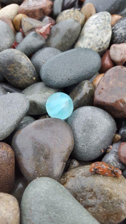 Sea Glass Blue Marble - Beachglass Beauties