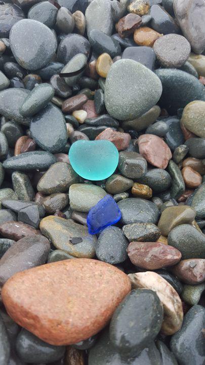 Baby Blue, Cobalt Blue Sea Glass - Beachglass Beauties