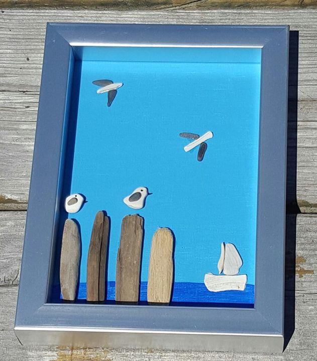 Seagull Seascape - Beachglass Beauties