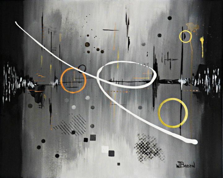 Abstract Power Painting - 30 x 24 - Waynes-Art