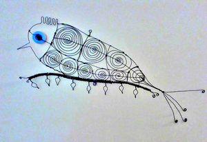 Wire Bird on Limb