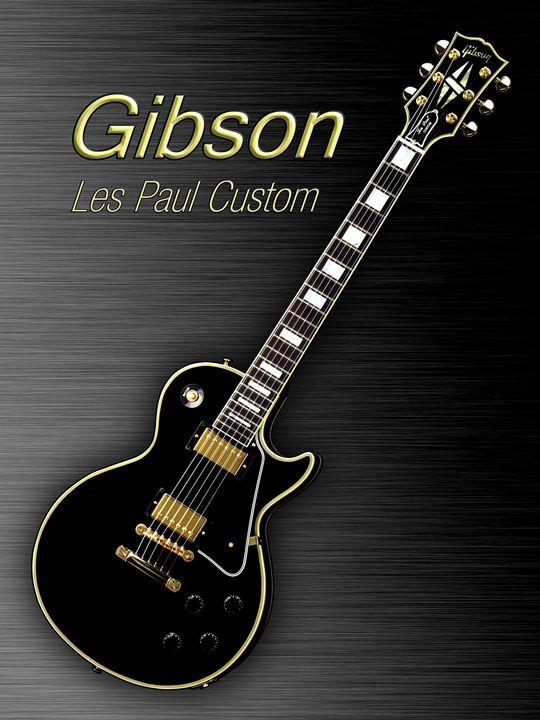 Black Gibson Les paul Custom - music