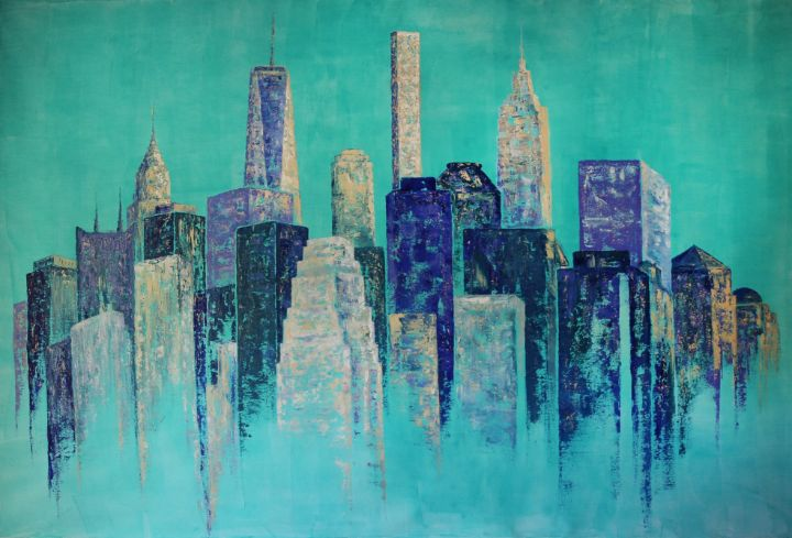 New York City Abstract Painting - Denis Kuvayev