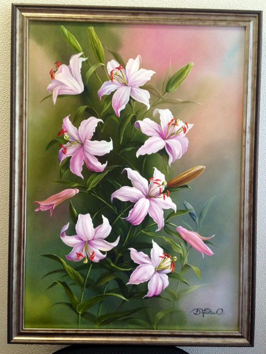 Lily Oil Canvas - Nebella