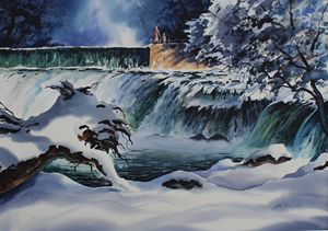 """WINTER AT GRAND FALLS"""