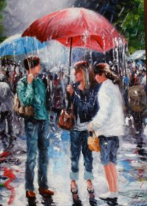 """RAINY DAY ON WALNUT STREET"""