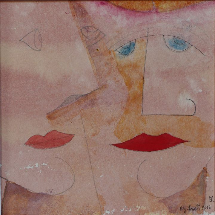 Two Faces Red Lips Blue Eyes - MGL
