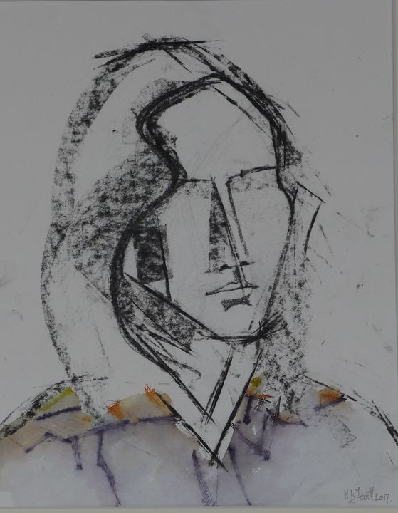 'Young Woman Head and Shoulders' - MGL