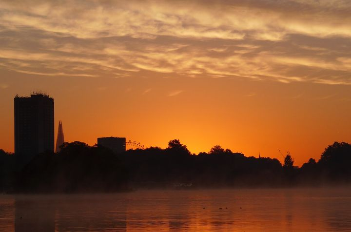 'Sun Rise Over The Serpentine' - MGL