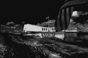 Arizona Memorial in Black and White